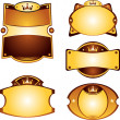 Royalty-Free Stock Imagen vectorial: Gold labels set