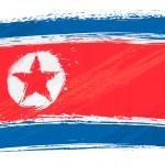 Grunge North Korea flag — Stock Vector