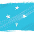 Grunge Micronesia flag — Stock Vector