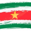 Grunge Suriname flag - Stockvektor