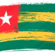 Grunge Togo flag - Stockvektor