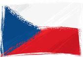 Grunge Czech Republic flag — Stock Vector