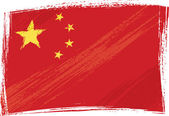 Grunge China flag — Stock Vector