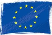 Grunge European Union flag — Stock Vector