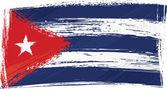 Grunge Cuba flag — Stock Vector