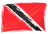 Grunge Trinidad and Tobago flag — Stock Vector
