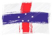 Grunge Netherlands Antilles flag — Stock Vector