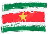 Grunge Suriname flag — Stock Vector