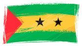 Grunge Sao Tome and Principe flag — Stock Vector