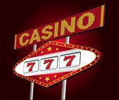 Casino neon — Stock Vector