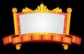 Złota kino neon — Wektor stockowy