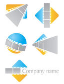Film icons — Stock Vector
