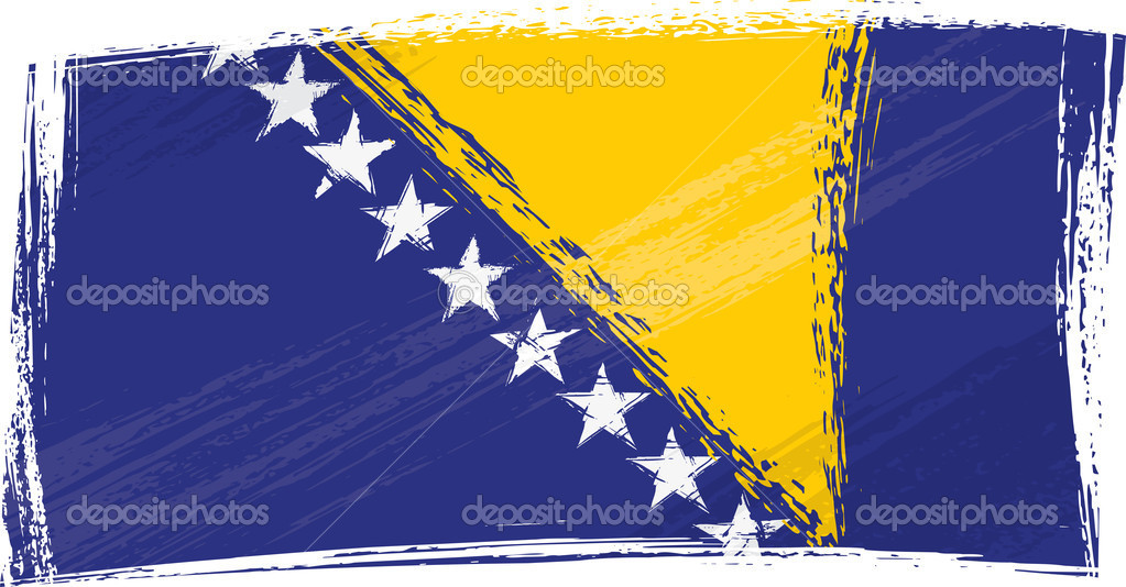 Bosnia and Herzegovina flag created in grunge style — Stock Vector #1692655