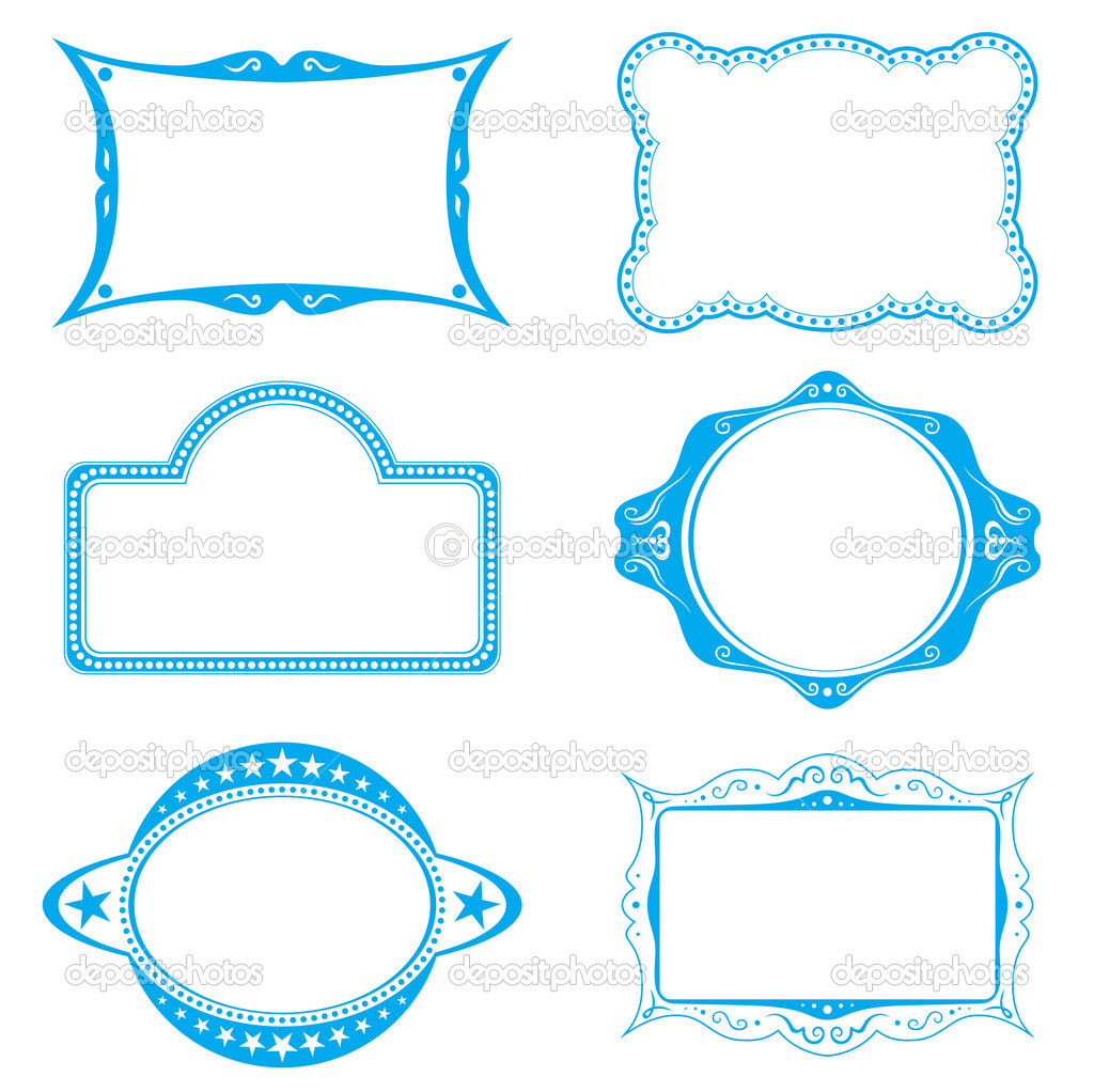 Collection of different frames for background or labels — Stock Vector #1693556