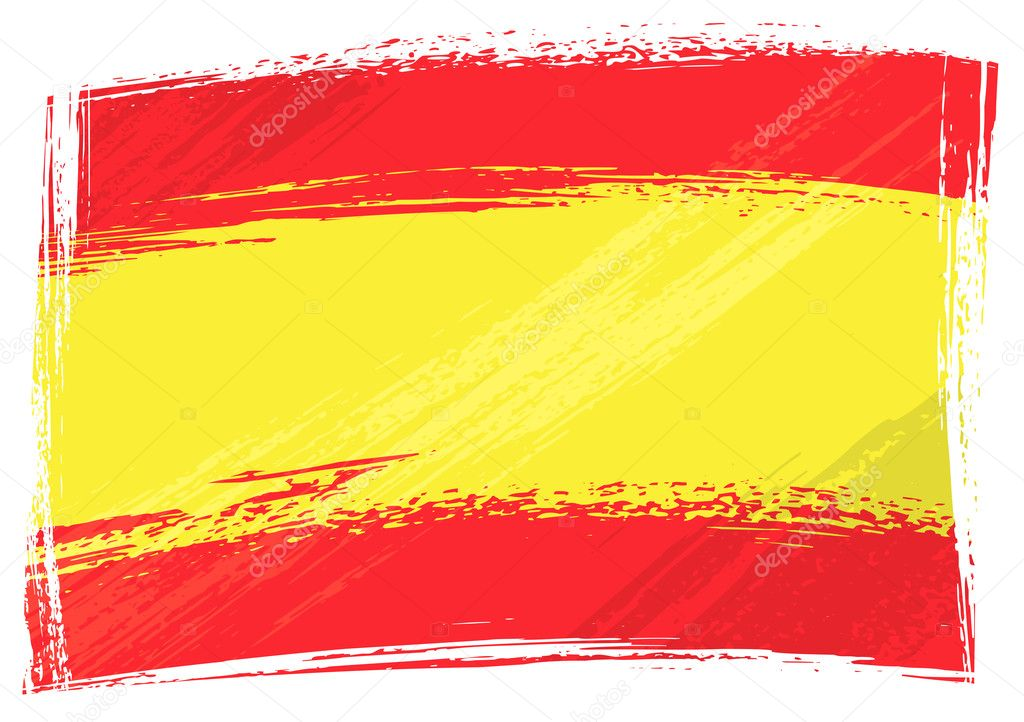 Spain national flag created in grunge style — Imagen vectorial #1694292