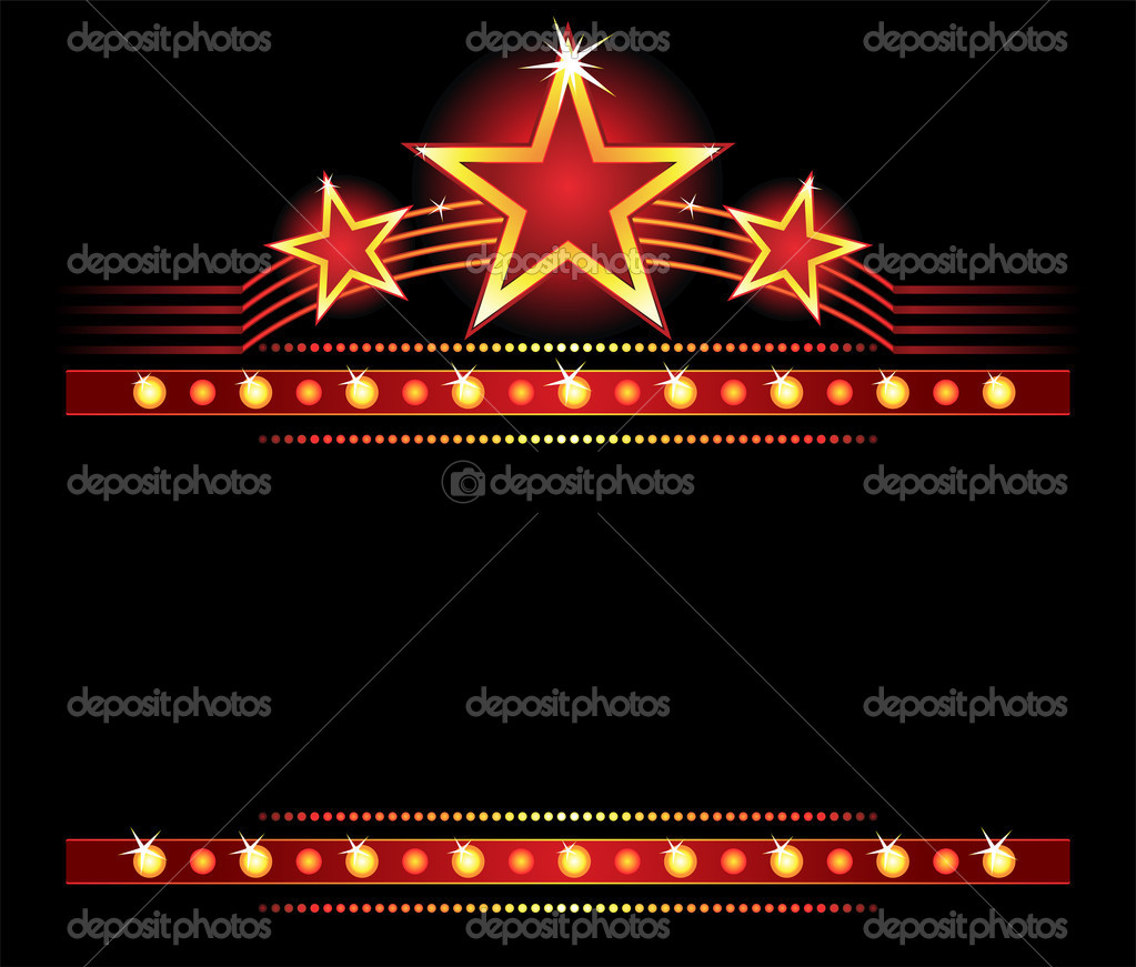 Big stars over place for your text — Stock Vector #1694666