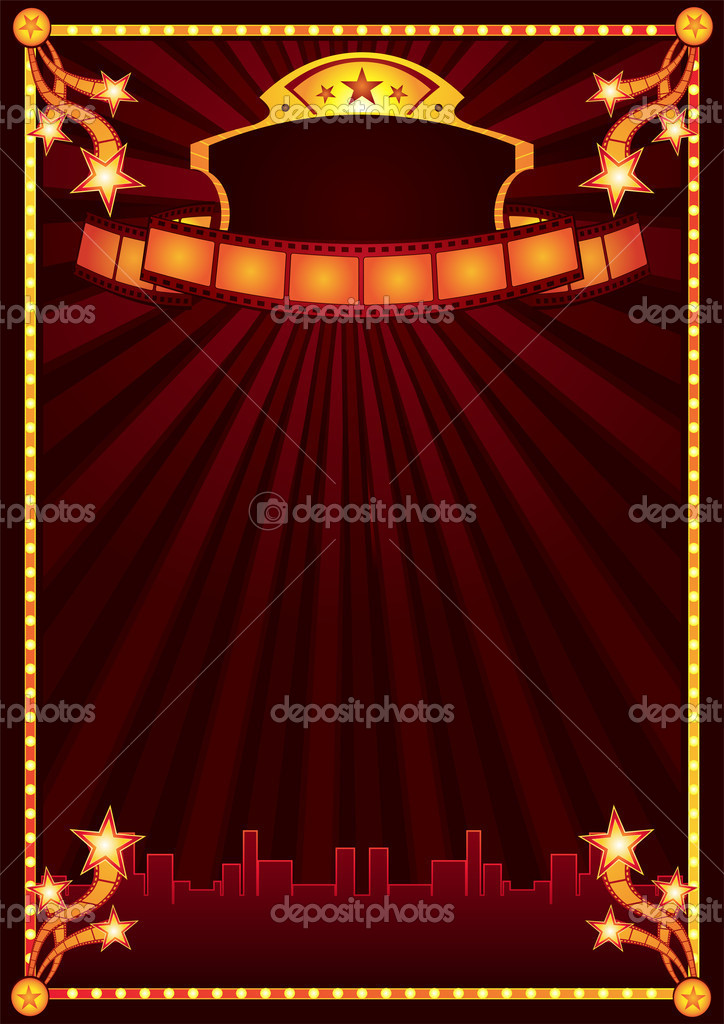 Design of poster for cinema premiere or festival  Stock Vector #1695149