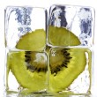 Royalty-Free Stock Photo: Kiwi and ice cubes