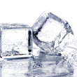 Melting ice cubes - Foto Stock
