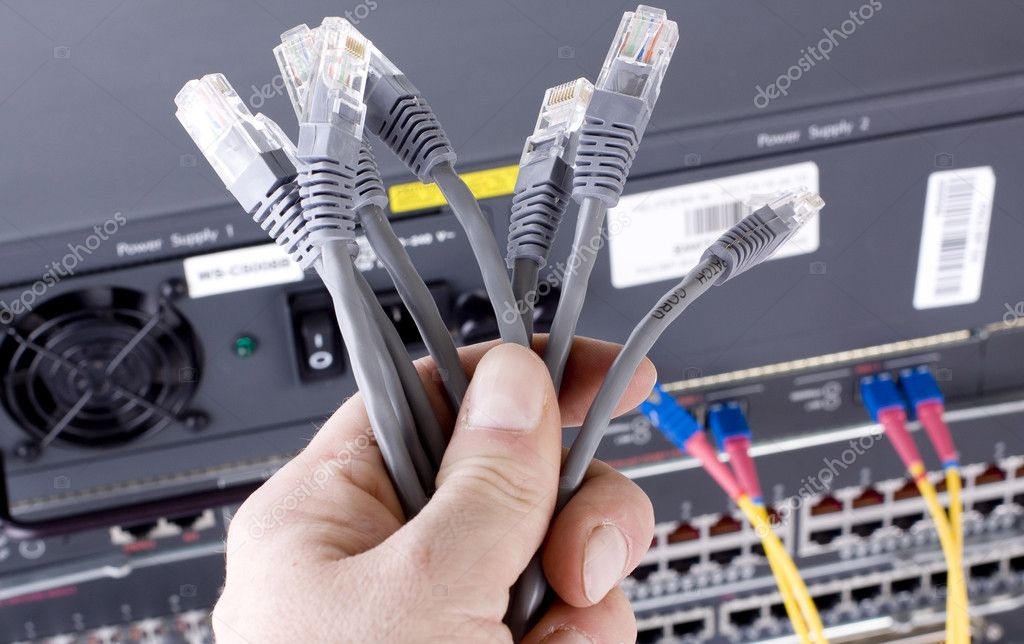 Network cables  — Stock Photo #1631306
