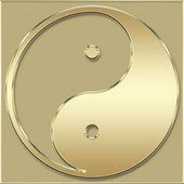 Yin Yang gold — Stock Photo