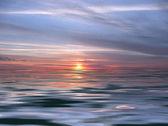 Sea sunset background — Stock Photo