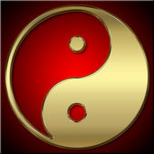 Yin Yang icon — Stock Photo