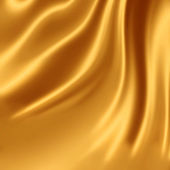 Golden silk fabric — Stock Photo