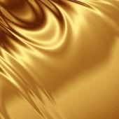 Gold satin fabric grunge — Stock Photo