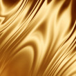Gold silk fabric — Stock Photo #1919333