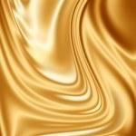 Gold silk fabric — Stock Photo #2151874