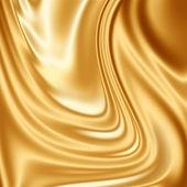 Gold silk fabric — Stock Photo