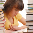 Girl in Library — Stock Photo #1608804