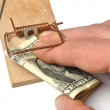 Hand and Mousetrap — Stock Photo