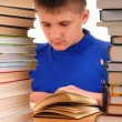 Boy in Library — Stock Photo