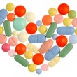 Stock Photo: Pills Heart