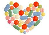 Pills Heart — Stock Photo