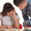 Boy And Girl Reading — Stock Photo #1708309
