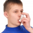 Teenager with Inhaler — Stock Photo #1760669
