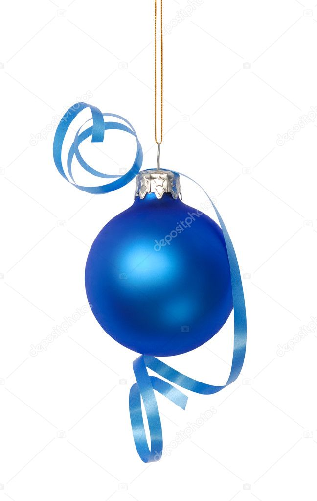 Christmas bauble isolated on white — Stock Photo #1780653