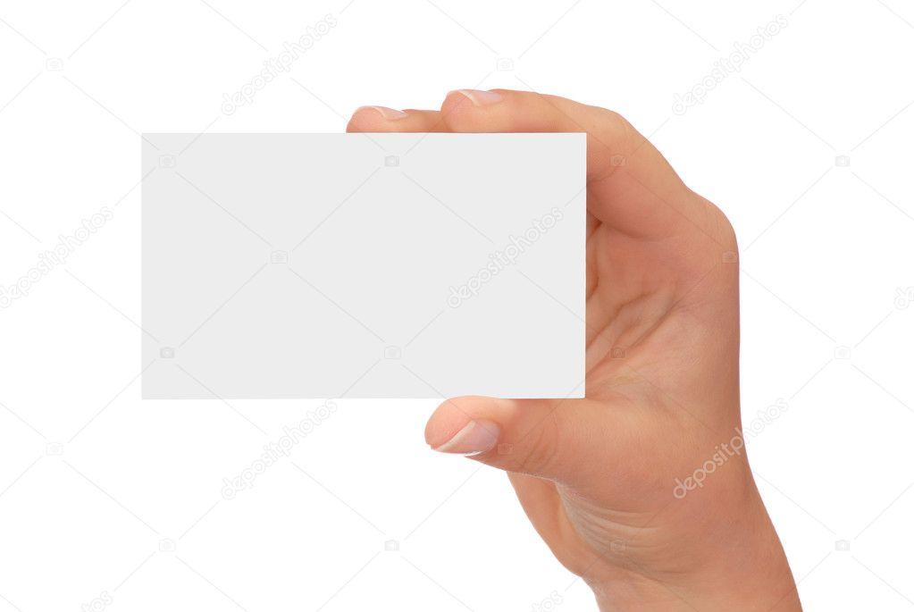 Blank Business Card — Stock © phodopus