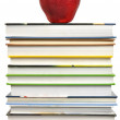 Stock Photo: Books and Apple