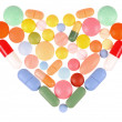 Pills Heart — Stock Photo