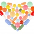 Royalty-Free Stock Photo: Pills Heart