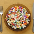 Plate with Pills — Stock Photo