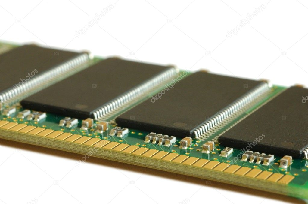 Isolated memory module  Stock Photo #2070311