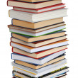 Stock Photo: High Books Stack