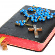 Rosary and Prayer Book — Stock Photo