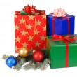 Stock Photo: Isolated Christmas Gifts