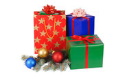 Isolated Christmas Gifts — Stock Photo